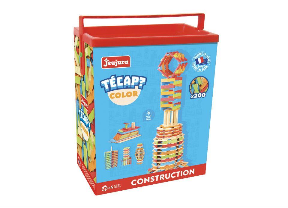 Dřevěné hračky Jeujura Dřevěná stavebnice Técap Color 200 dílů