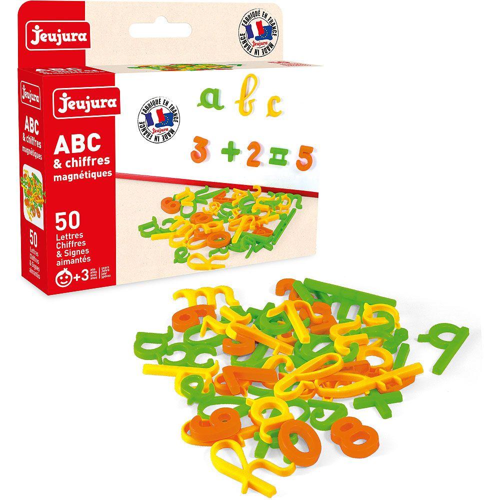 Dřevěné hračky Jeujura Krasopisná magnetická písmenka 50ks 2f2bb269ce