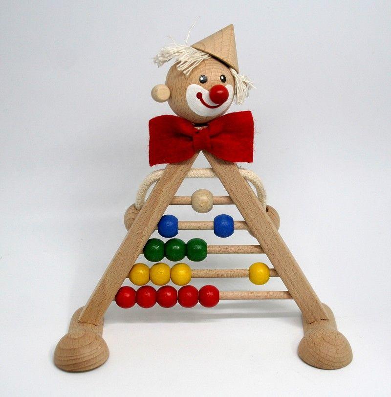 Dřevěné hračky Počítadlo šašek - dřevěná hračka ručně malovaná Česká dřevěná hračka