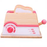Bigjigs Toys Dřevěný toaster růžový