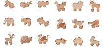 Dřevěná hračka na kolečkách, různé druhy   nosorožec