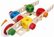 Dřevěné hračky Dřevěná stavebnice Baufix 10200 Letadlo