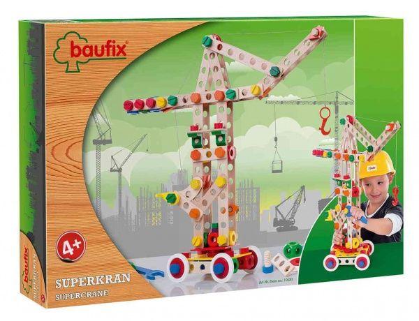 Dřevěné hračky Dřevěná stavebnice Baufix 10420 Superjeřáb