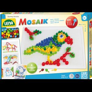 Dřevěné hračky Lena Mozaiková sada barevná mix 400 velké