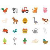 Dřevěné hračky Petitcollage Bludiště a puzzle Farma