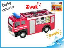 Kovové auto hasiči česky mluvící
