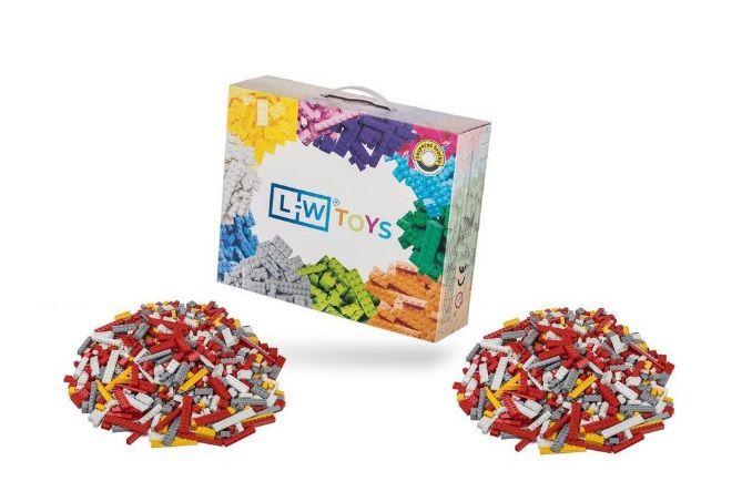 Dřevěné hračky L-W Toys Hasičský set 2000 ks (lehký + těžký)