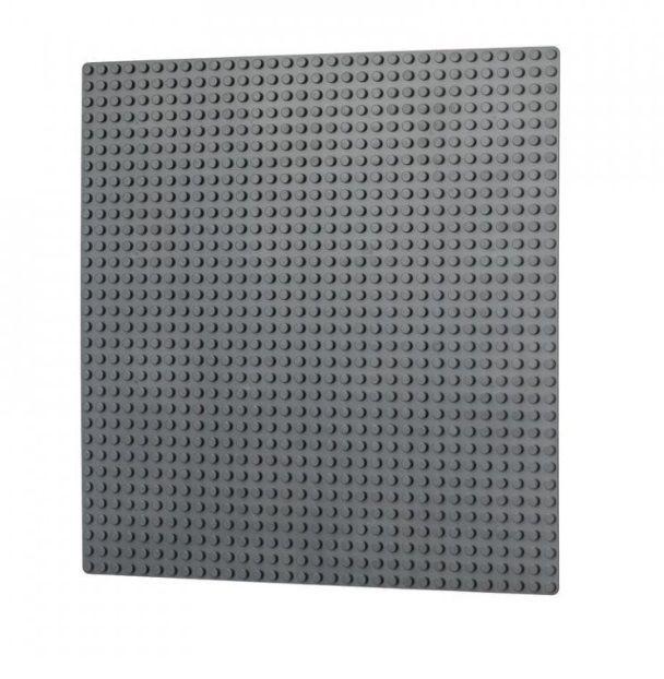 Dřevěné hračky L-W Toys Základová deska 32x32 tmavě šedá
