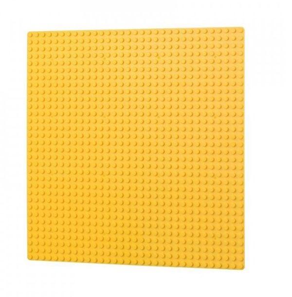 Dřevěné hračky L-W Toys Základová deska 32x32 žlutá