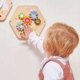 Dřevěné hračky Le Toy Van Petilou hrací panel tvary