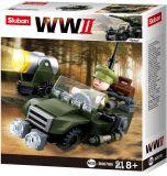 Sluban WWII M38-B0678B 4into1 Hlídkový Jeep