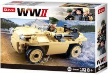 Sluban WWII M38-B0690 Německý obojživelný vůz Schwimmwagen