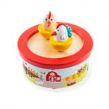 Bigjigs Toys Dřevěná hrací skříňka farma