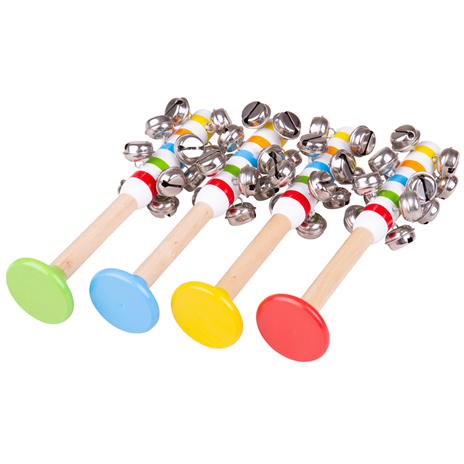 Dřevěné hračky Bigjigs Toys Rolničky pruhované 1ks zelená