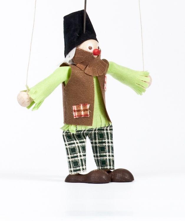 Dřevěné hračky Dřevěná loutka Loupežník Edvard Gerlich