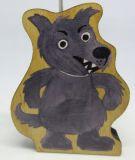 Dřevěná loutka Vlk