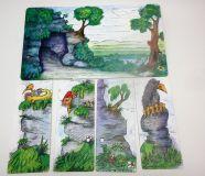 Dřevěné hračky Oboustranně kulisy k divadlu U jeskyně, V pekle Gerlich