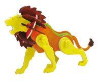 Dřevěné hračky RoboTime Dřevěná skládačka lev+ barvy a štětec