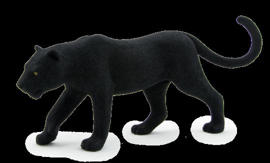 Dřevěné hračky Mojo Animal Planet Panter černý