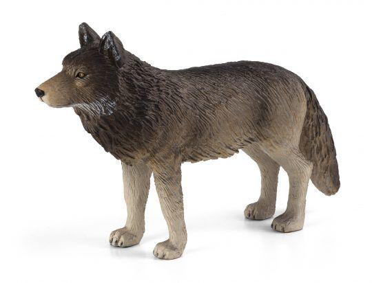 Dřevěné hračky Mojo Animal Planet Vlk obecný stojící