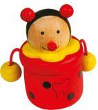 Dřevěné hračky -  Krabička na mléčné zoubky zvířátka Beruška