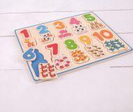 Dřevěné hračky Bigjigs Toys Počítací puzzle 2