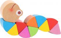 Dřevěné hračky Small Foot Duhový červík 1 ks Small foot by Legler