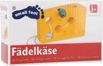 Dřevěné hračky Small Foot Hra na provlékání sýr s myší žlutá verze Small foot by Legler