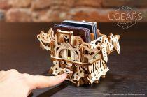 Ugears 3D dřevěné mechanické puzzle Úložný box na karty