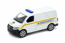 Welly Volkswagen Transporter T6 Van 1:34 emergency bílé
