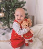 Dřevěné hračky Bigjigs Toys Látková panenka Mandie 34 cm