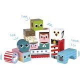 Dřevěné hračky Vilac Dřevěné zvukové kostky Moře