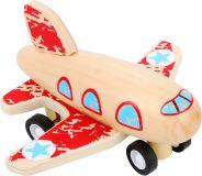 Small Foot Dřevěné letadlo červené