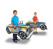 Dřevěné hračky Papírová hračka - Auto - Car-Diesel Funny Paper Furniture