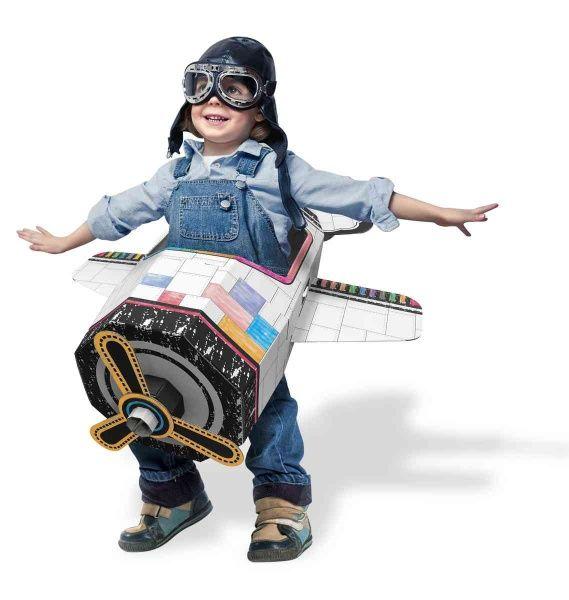 Dřevěné hračky Papírová hračka - Letadlo - Airplane-Flyme Funny Paper Furniture