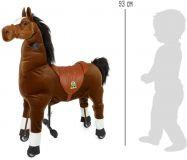 Dřevěné hračky Small Foot Pohyblivý dětský jezdecký kůň na kolečkách Blesk Small foot by Legler