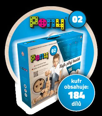 Dřevěné hračky Dřevěná stavebnice PONY 02