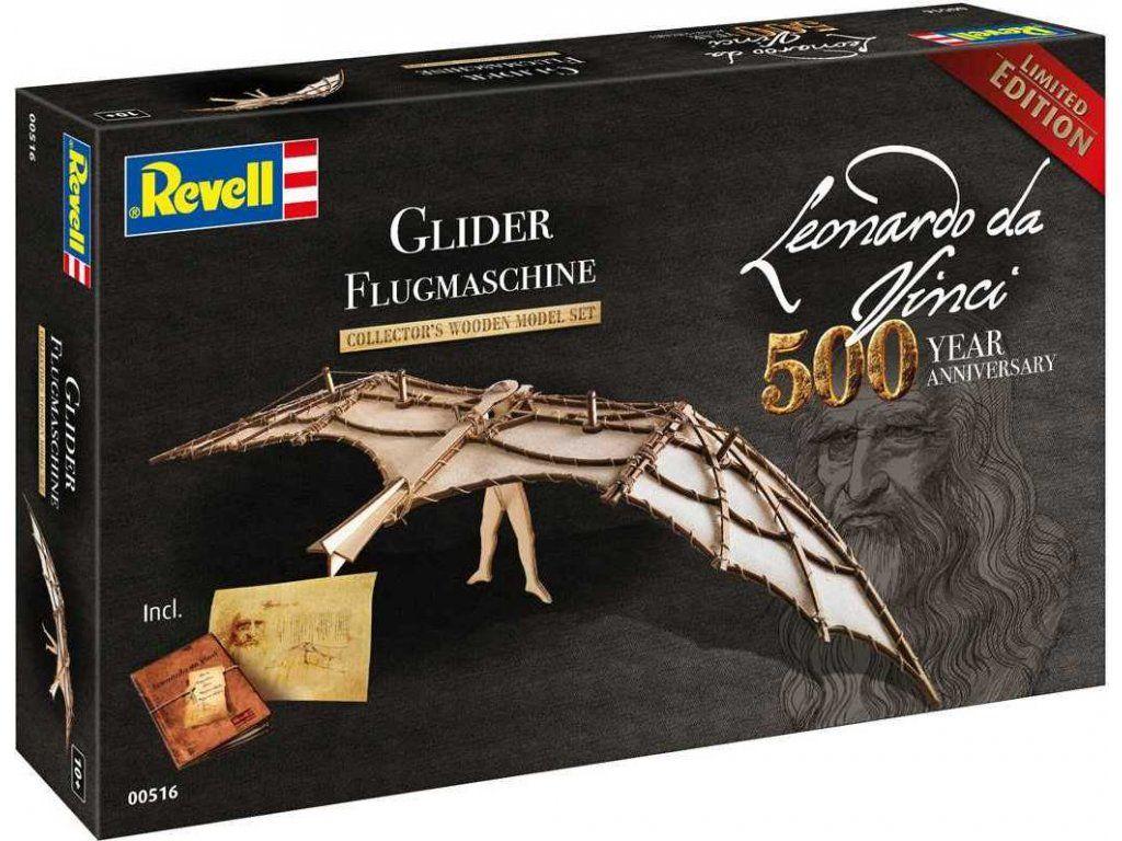 Dřevěné hračky Dřevěná stavebnice Leonardo da Vinci Glider - Kluzák Revell