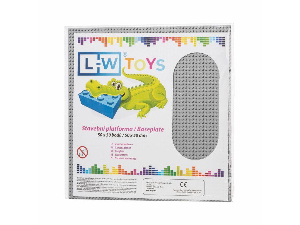 Dřevěné hračky L-W Toys Velká podložka na stavění 50x50