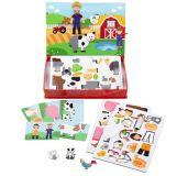 Dřevěné hračky Bigjigs Toys Magnetické oblékací puzzle Farma