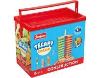Dřevěné hračky Jeujura Dřevěná stavebnice TECAP 100 dílků
