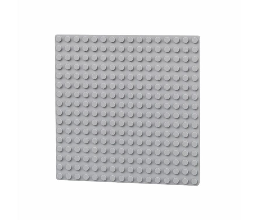 Dřevěné hračky L-W Toys Oboustranná deska 16x16 světle šedá