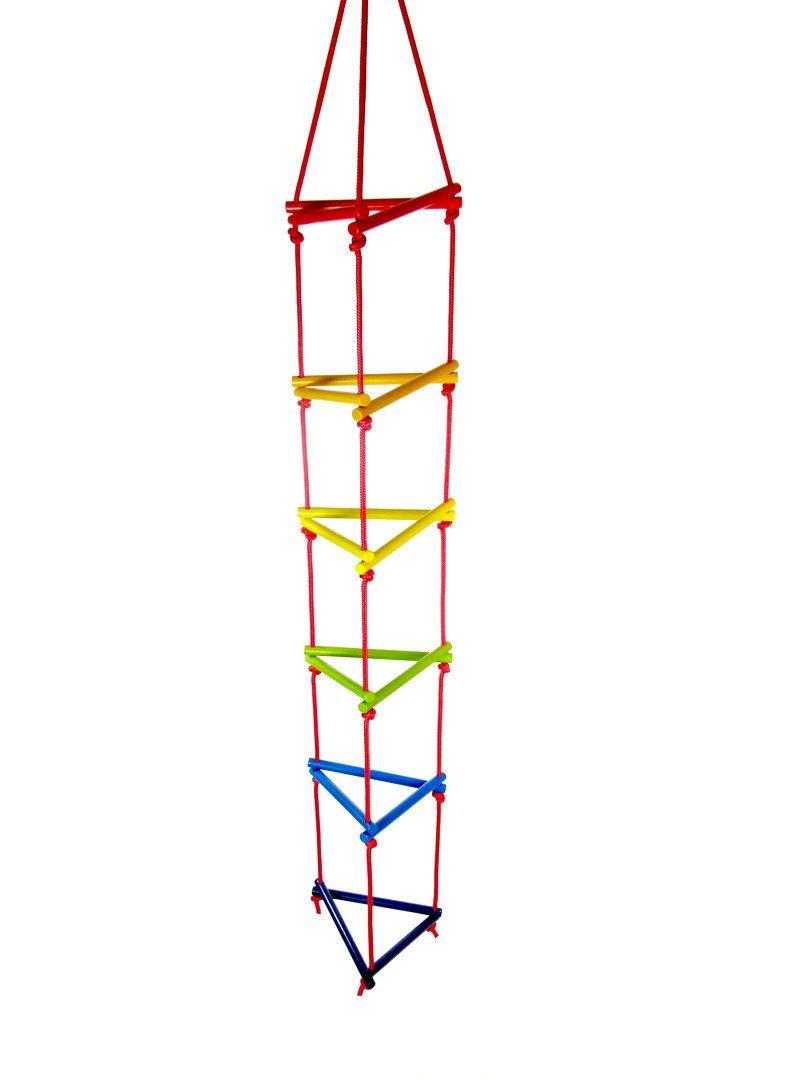 Dřevěné hračky Hess Trojůhelníkový lanový žebřík