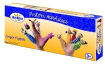 Dřevěné hračky Detoa Prstoví maňásci Zvířátka