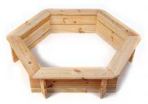 Dřevěné hračky Dřevěné pískoviště šestihranné Česká dřevěná hračka