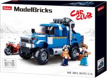 Sluban Model Bricks M38-B0813 Off Road Modrý Pickup s motorkou