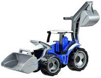 Lena Traktor se lžící a bagrem - modro šedý