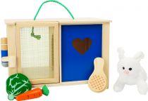 Dřevěné hračky Small Foot Plyšový králík v králíkárně s doplňky Small foot by Legler