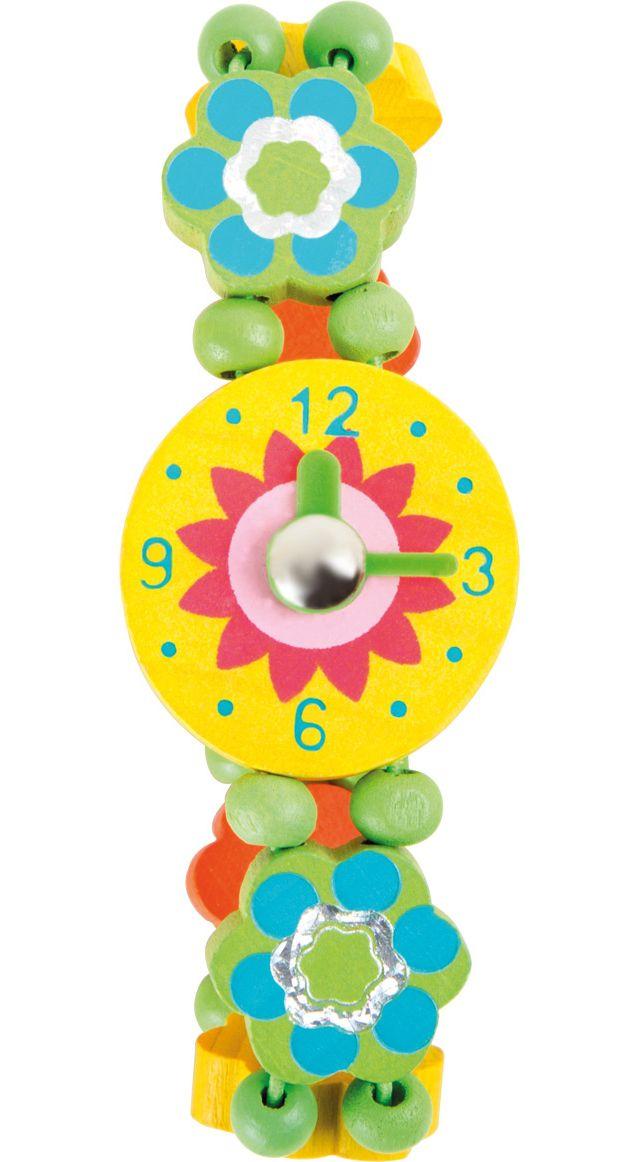 Dřevěné hračky Dřevěné hračky - Dřevěné hodinky - kytičky Legler OHG small foot company