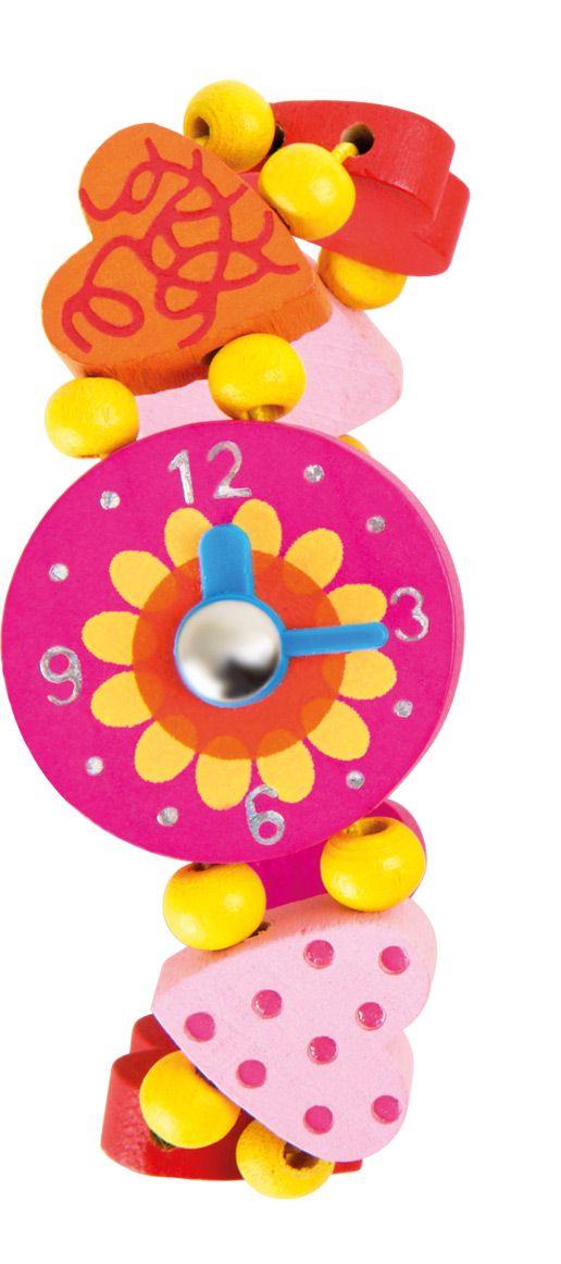 Dřevěné hračky Dřevěné hračky - Dřevěné hodinky - srdíčka Legler OHG small foot company